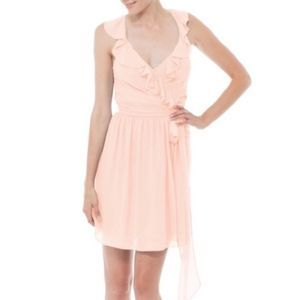 Joana August Lacey Ruffle Party Dressy Wrap Gown